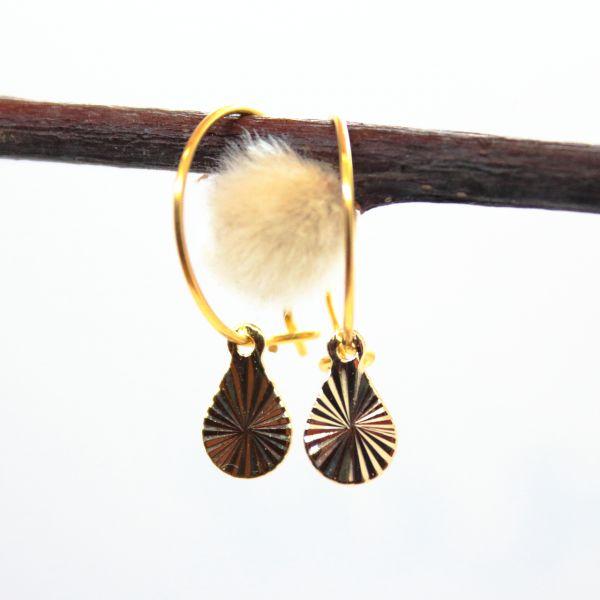 DOPPELLOTTE - SUN PLATE MINI 2 Ohrschmuck gold