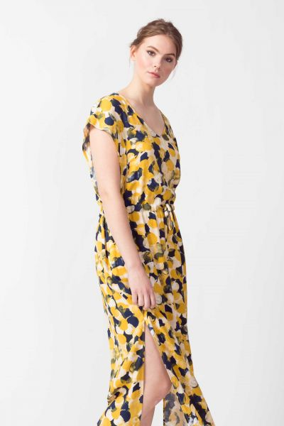 SKFK - ESTEBENI DRESS Kleid Y6 bubbles print yellow