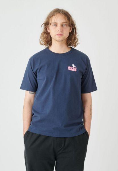 CLEPTOMANICX - GOOD VIBES TEE Shirt dark navy