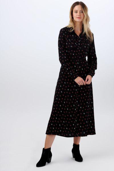 SUGARHILL BRIGHTON - SERENA AUTUMN STORM SHIRT DRESS Kleid black/ rust