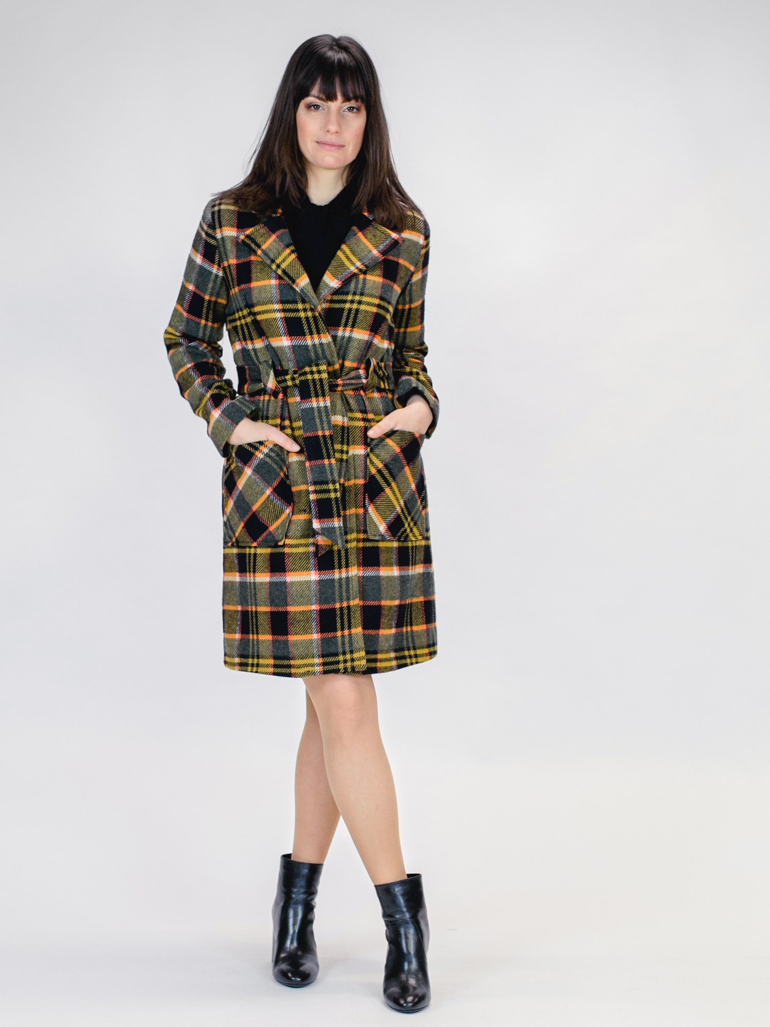 MADEMOISELLE-YEYE-LET-s-COZY-UP-COAT-Jacke-tartan-black-mustard-4