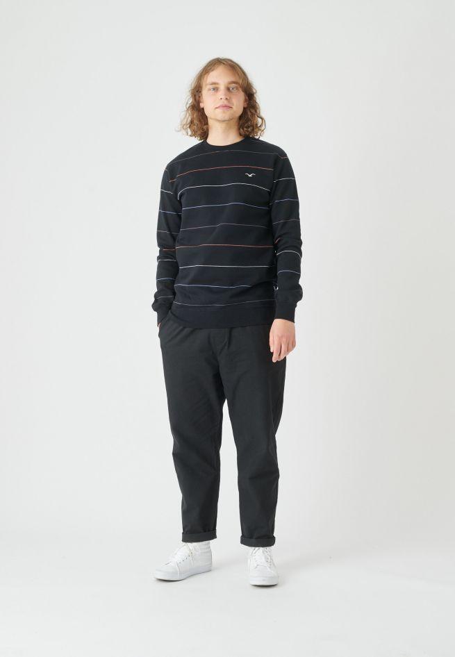 CLEPTOMANICX-MULTI-STRIPE-Sweatshirt-Crewneck-black-3