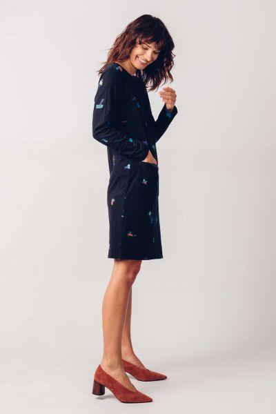SKFK - ILBE DRESS Kleid black print 2N