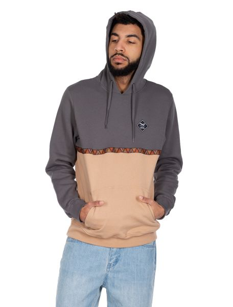 IRIE DAILY - MONTE BANDA HOODIE Hooded Sweater anthracite