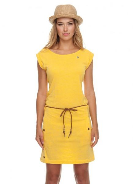 RAGWEAR - TAG DRESS Kleid yellow