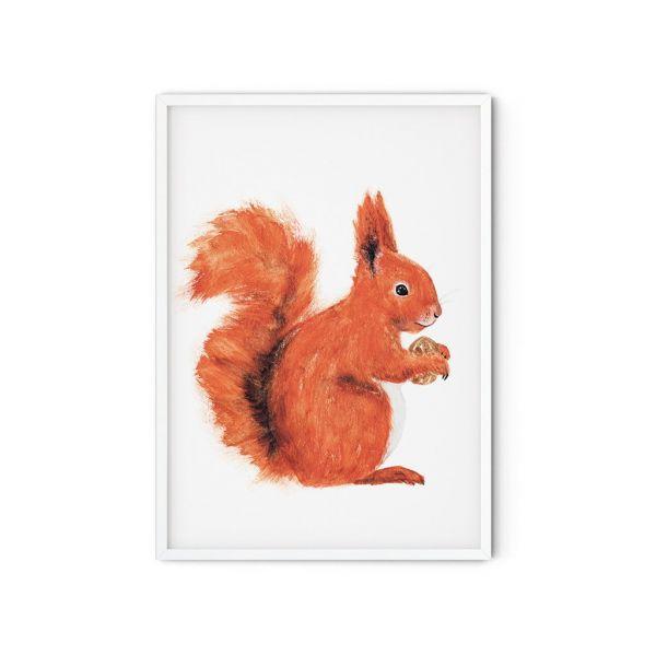 MALUU - SQUIRREL Kunstdruck Eichhörnchen A5