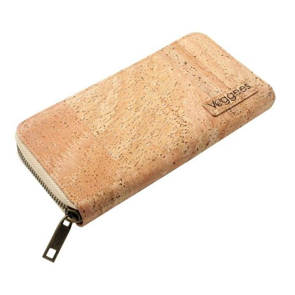 VEGGEES - NATURELL RFID BLOCK Kork Portemonnaie XL