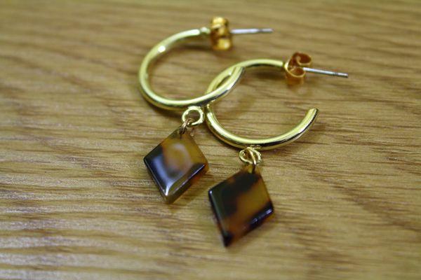 CLEO AMBER II Ohrschmuck gold