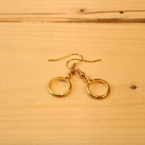 DOPPELLOTTE - RINGS Ohrschmuck gold