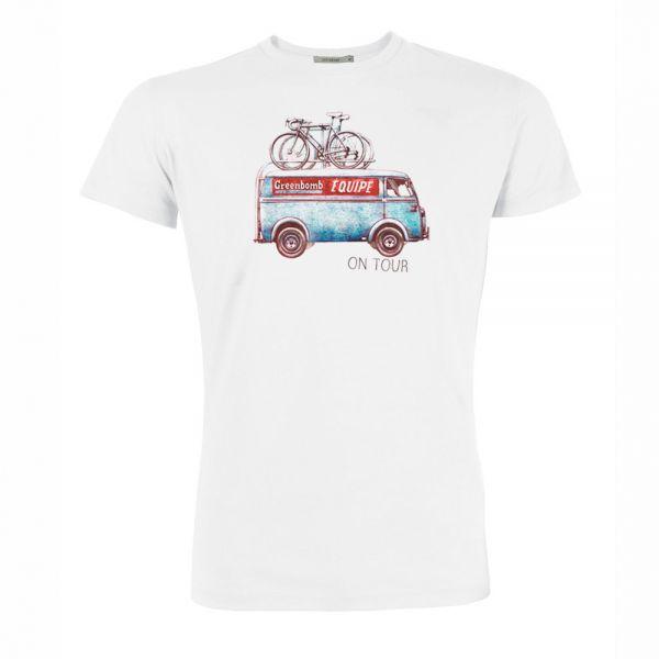 GREENBOMB - BIKE ON TOUR Guide T-Shirt white