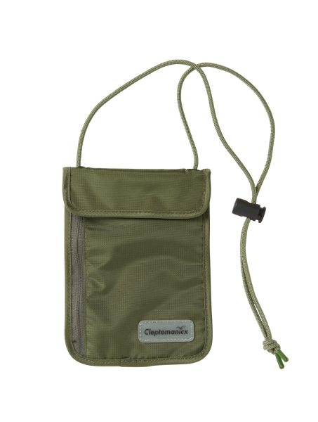 CLEPTOMANICX NECK POUCH - Tasche dusty olive