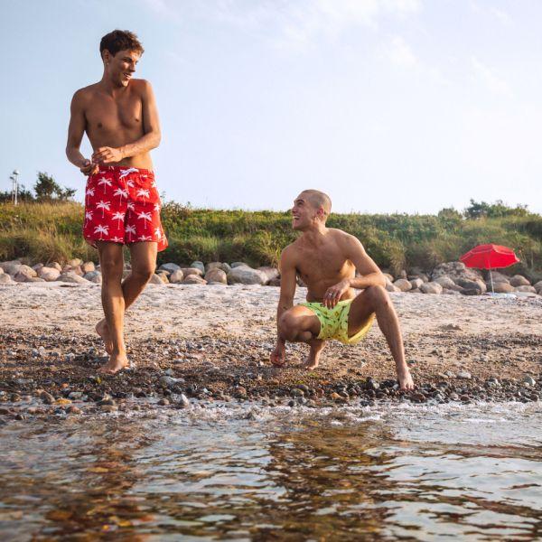 DEDICATED - SANDHAMN PALMS Swim Shorts red