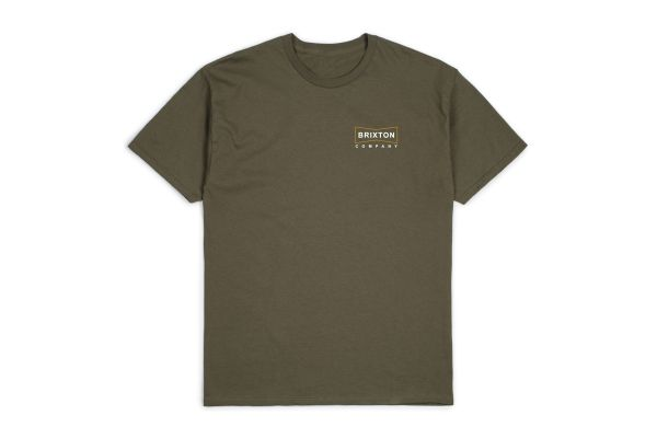 BRIXTON - WEDGE S/S STT Shirt olive