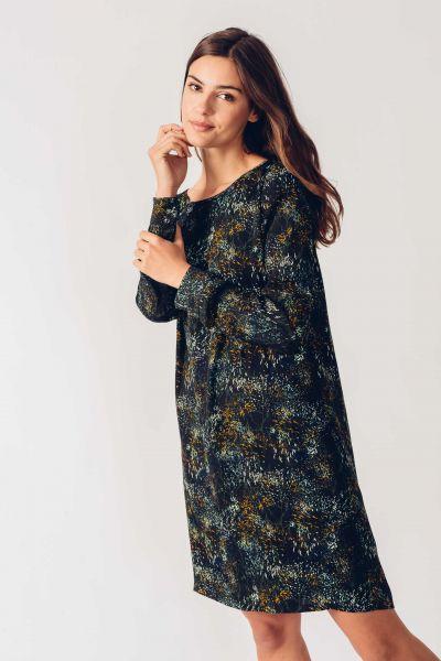 SKFK - AURA DRESS Kleid 2N floral black