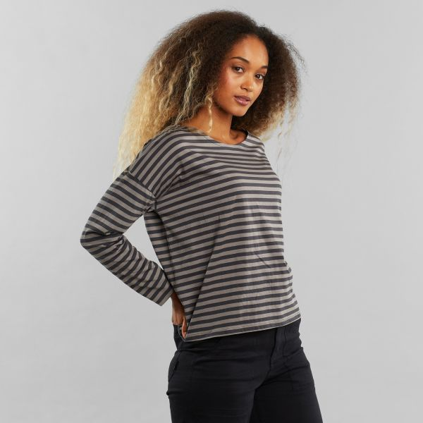 DEDICATED - HUMLEDAL STRIPES Longsleeve charcoal - forged iron