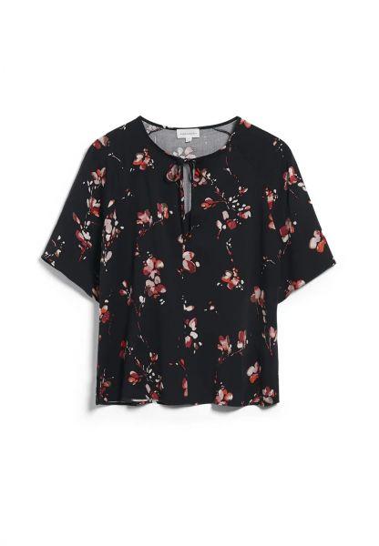 ARMEDANGELS - PINJAA FLOWER BATIK Bluse/ Hemd black