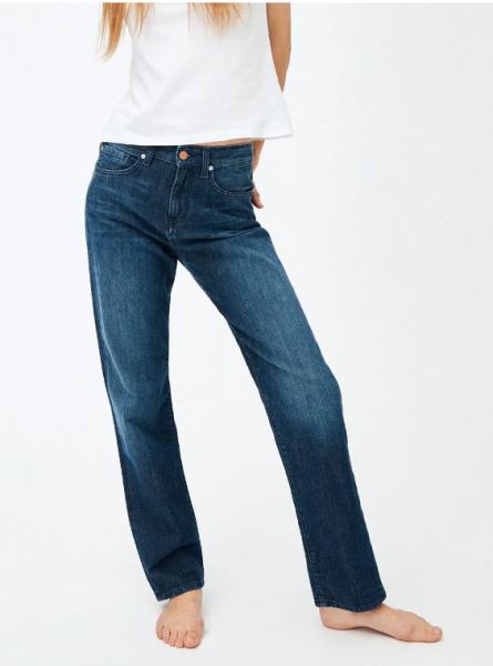 ARMEDANGELS - FJELLA STRAIGHT FIT MID WAIST Jeans stone wash