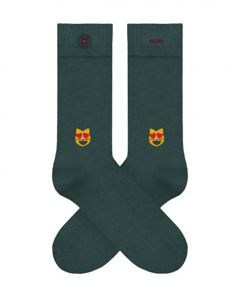A-DAM - LIEVE Herrensocken dark green
