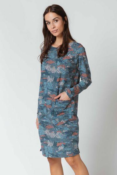 SKFK - ILBE DRESS Kleid B8 garden blue