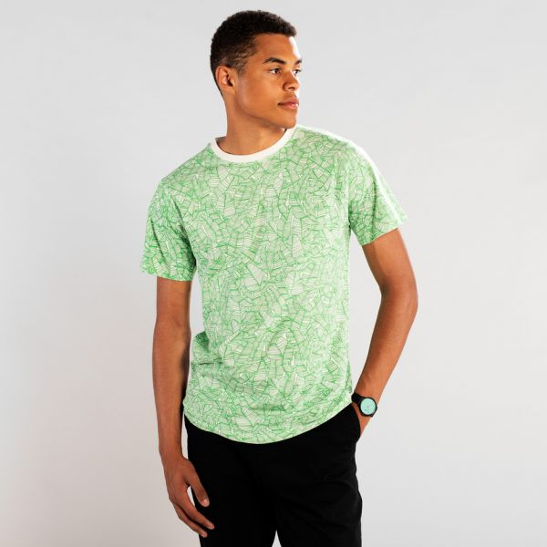 DEDICATED - PALM LEAVES PATTERN Stockholm T- Shirt off white