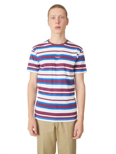 CLEPTOMANICX - MULTI STRIPE 3 Shirt crushed violets