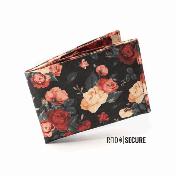 FLOWERS RFID SECURE Portemonnaie