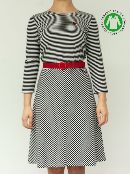 MADEMOISELLE - OH YEAH! Dress blue/ white stripes
