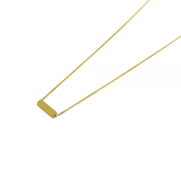 POTIPOTI - RECTANGLE YELLOW Halskette