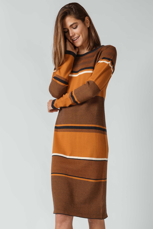 SKFK-DURNE-DRESS-Kleid-66-multicolor-roasted-brown-2
