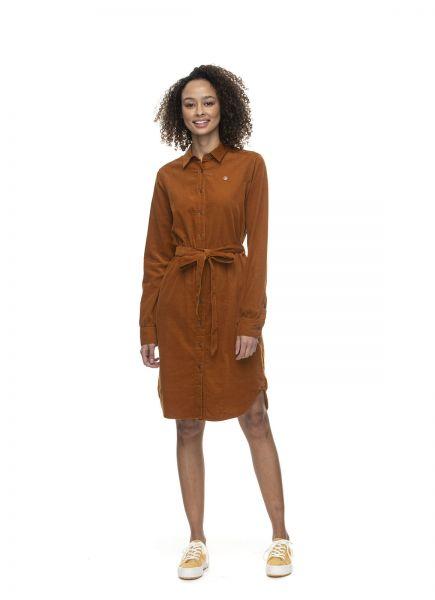 RAGWEAR - ADAMMA Kleid pumpkin