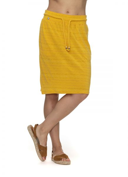 RAGWEAR - TIGUA ORGANIC SKIRT Rock yellow