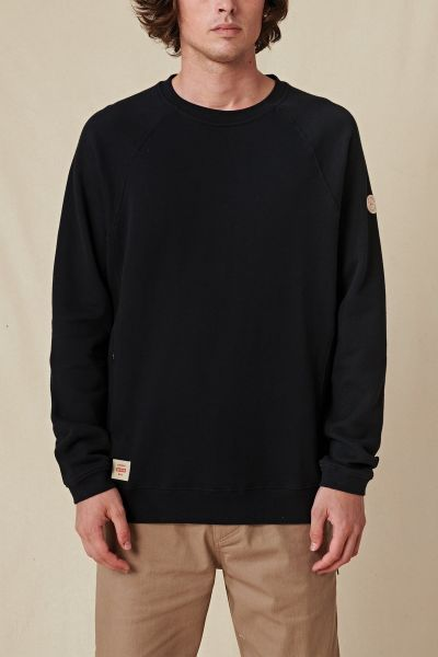 GLOBE - TRAVELLER CREW SWEATER Pullover black