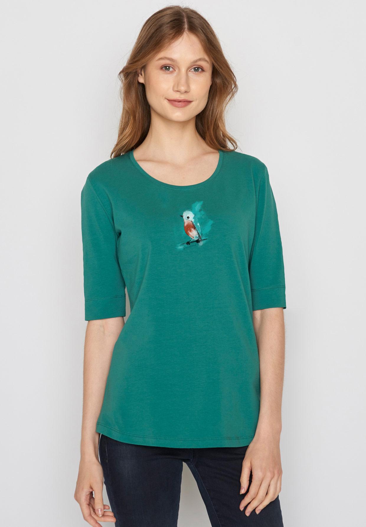 GREENBOMB-ANIMAL-BIRDIE-Deep-Shirt-jungle-green