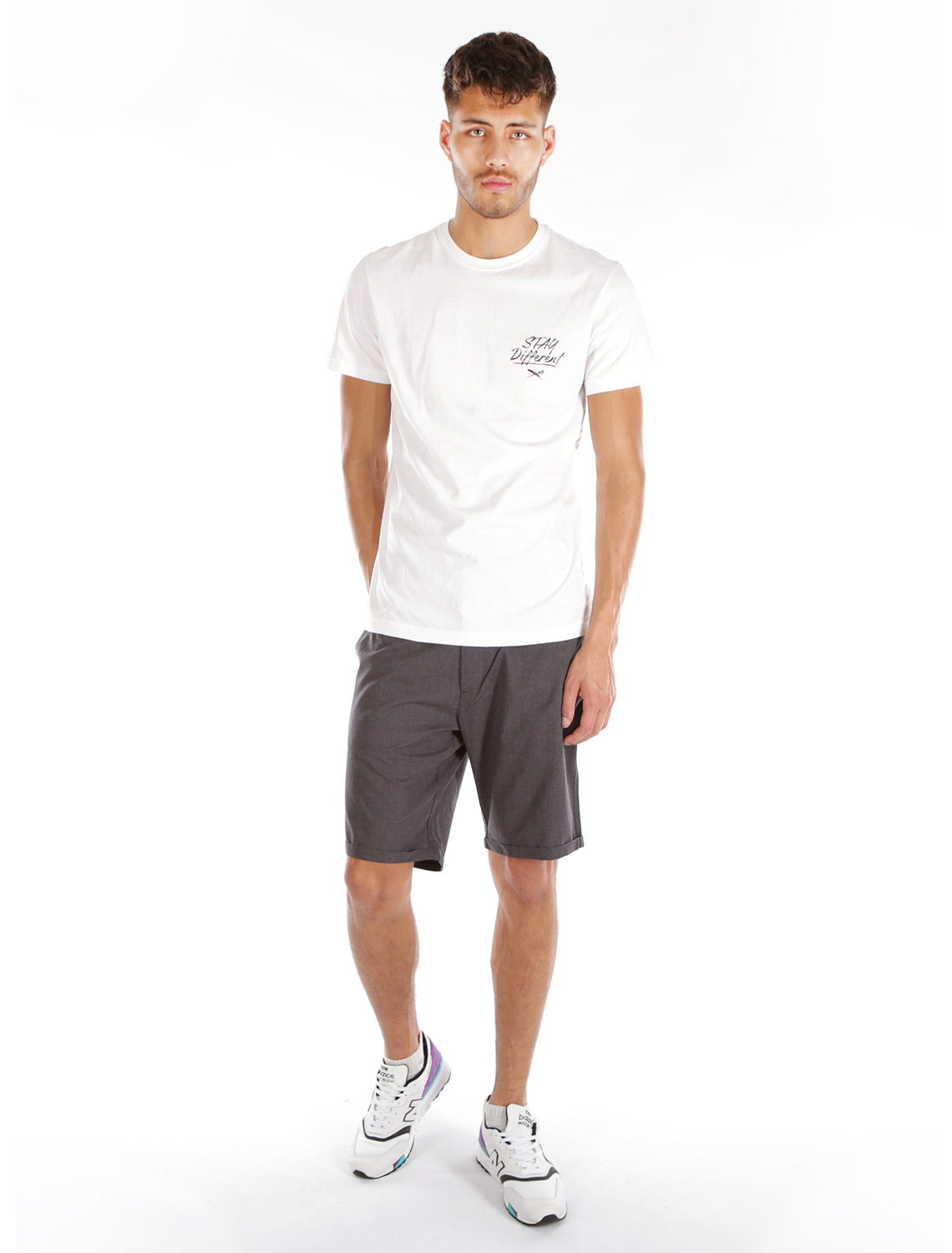 IRIE-DAILY-GOLFER-CHAMBRAY-SHORT-Hose-anthra-melange-4