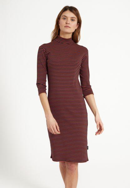 RECOLUTION - DANDELION DRESS Kleid dark navy - roasted orange