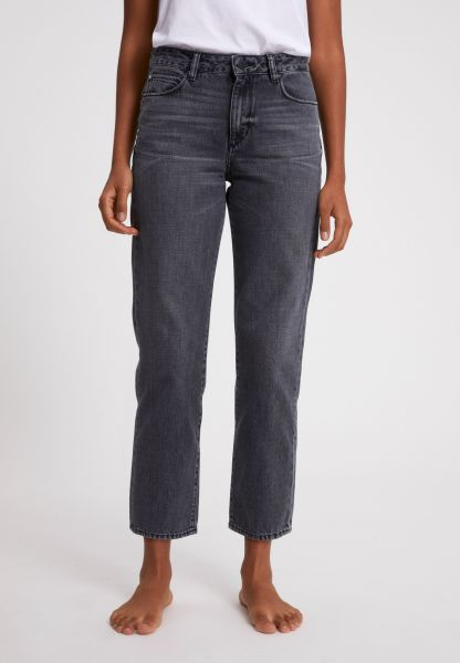 ARMEDANGELS - FJELLAA CROPPED STRAIGHT FIT MID WAIST Jeans clouded grey