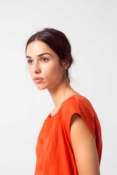SKFK - ZALOA Shirt R6 chili orange