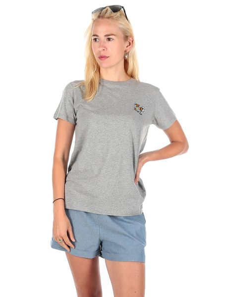 IRIE DAILY - LET IT BEE STRIPE TEE T-Shirt gray melange