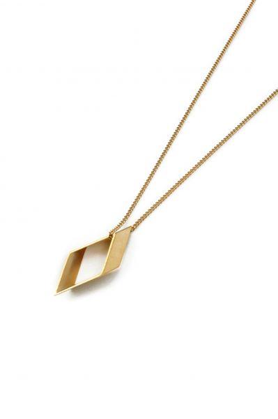 POTIPOTI - GEO RHOMBUS Halskette gold