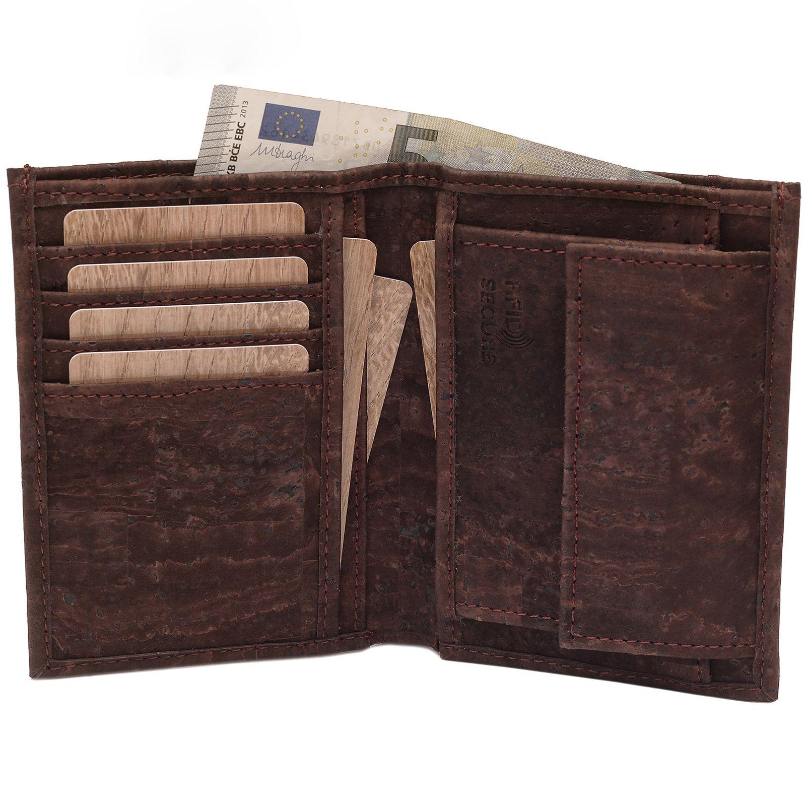 SIMARU-KAZUHIKO-RFID-BLOCK-Kork-Portemonnaie-brown