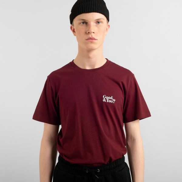 DEDICATED - GOOD AND YOU Stockholm Shirt burgundy