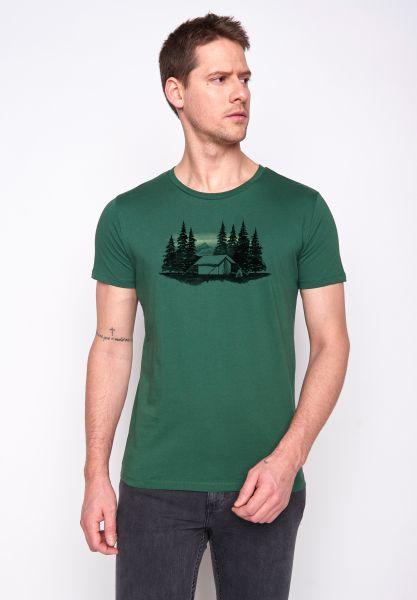 GREENBOMB - NATURE FOREST TENT T-Shirt bottle green