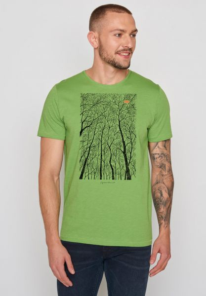 GREENBOMB - NATURE FOREST PEEP Spice T-Shirt pale green
