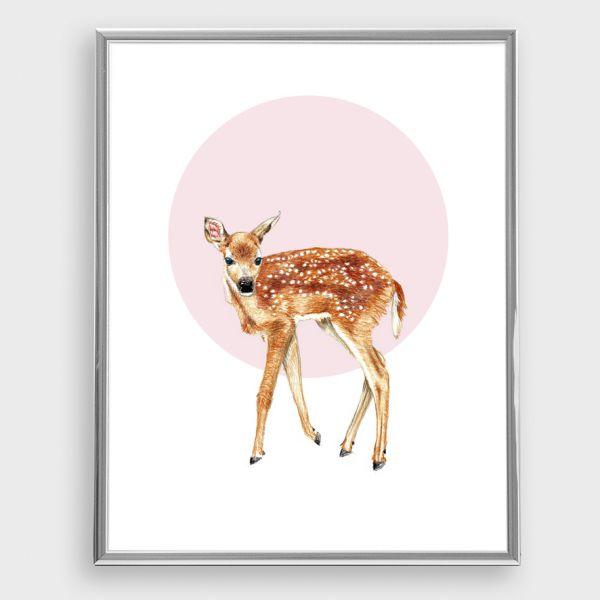 JANINE SOMMER - REHKITZ Zeichnung, Poster, Kunstdruck A4