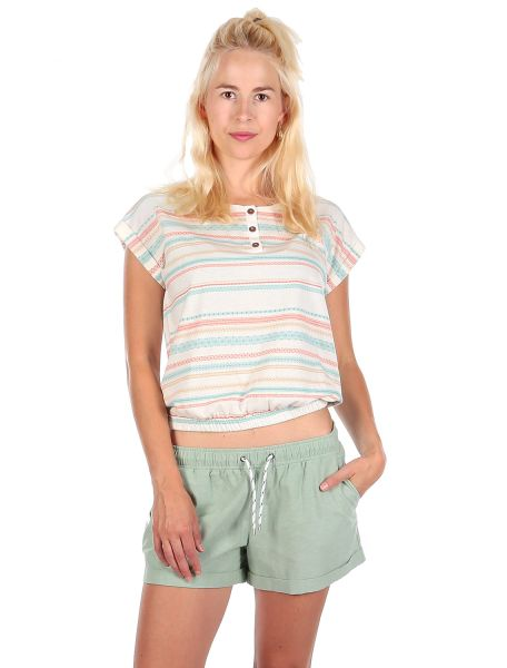 IRIE DAILY - CAIPINI CROP TEE T-Shirt off-white