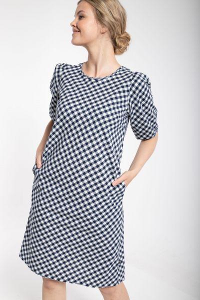DANEFAE - BRIGITTE DRESS Kleid navy/chalk