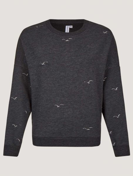 CLEPTOMANICX - GULL ALLOVER Sweater phantom black