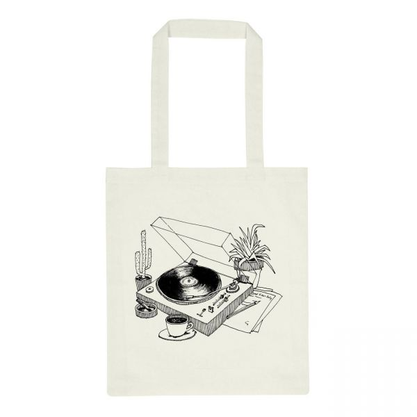 DEDICATED - TOREKOV COFFEE VINYL Tote Bag