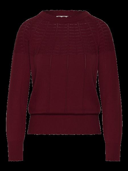 MADEMOISELLE YEYE - TONIGHT Knit Top Strickpullover winered