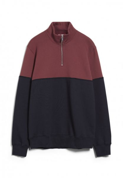 ARMEDANGELS - RALLPH TWOTONE Pullover depth navy/ sable red